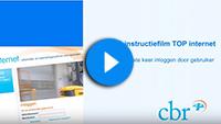 Beginscherm Youtubevideo met inlogpagina TOP internet